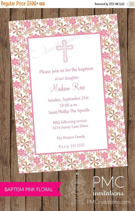 SALE First Communion or Baptism Invitations - 1.00 each with envelope