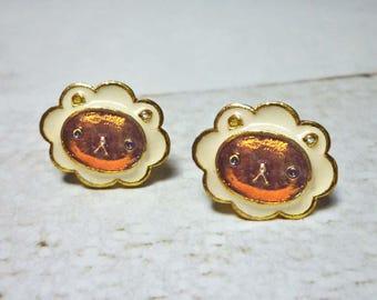 SALE - Cute Lion Stud Earrings