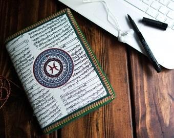 Pisces Journal, Pisces Zodiac Gift, Junk Journal, Zodiac diary, Writing journal, Pisces Mandala Art, Horoscope Gift, March Birthday Gift