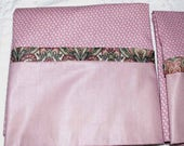 Cottage Chic Pillowcase Set of 2 Queen Cotton Pillow Covers Dusty Rose