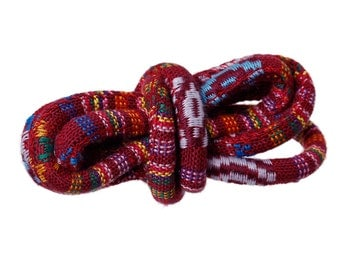 """Ethnic Cotton Jewelry Rope - Red Wine 6.0mm (1/4"""")"""