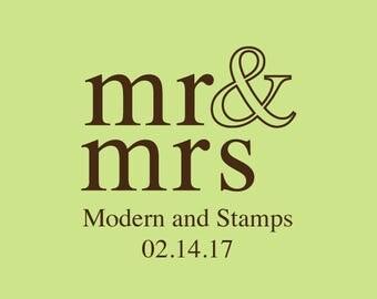 Wedding Stamp   Custom Wedding Stamp   Custom Rubber Stamp   Custom Stamp   Personalized Stamp   Mr and Mrs Stamp   Napkins   C400