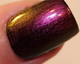 "Chameleon Color Shifting Nail Polish - Purple/Maroon/Gold - ""Island Breeze"" - Full Size Bottle"