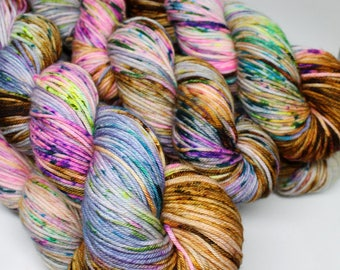 Squish DK - Speckled Yarn - 250 yards - Hand Dyed Superwash Merino Yarn - Bon Voyage