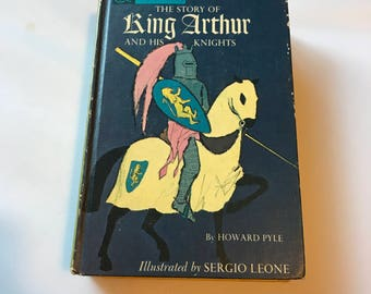 King Arthur and Pinocchio Book, Two Sided Book, Hardcover Vintage 1960s Books, Vintage Children's Books Companion Library Two for One Books