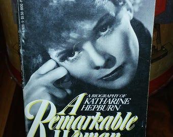 A Remarkable Woman Katherine Hepburn Vintage Paperback Book