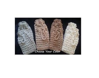 Crochet Soap Saver, Color Grown Organic Cotton Soap Saver, Bag, Case, Carrier, Sack, Tote