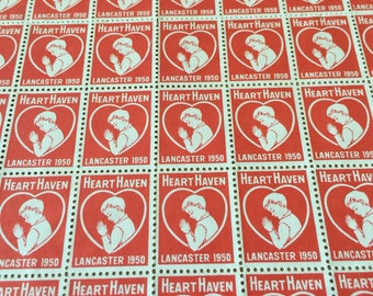 Unused Sheet 1950s Stamps