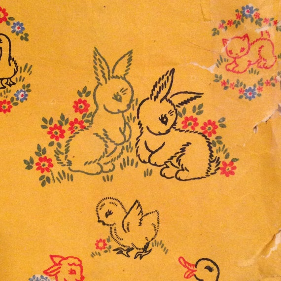 1940s Nursery Motifs Embroidery Transfer Designs Baby Animals Kitten,  Bunny, Scottie Dog Patterns from AndreasHappyPlace on Etsy Studio