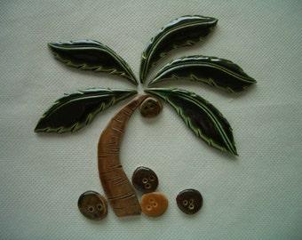 MYN - Smaller PALM TREE Set - Ceramic Mosaic Tile Set