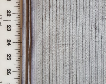 cotton Upholstery weight Home dec Grey wide wale corduroy type Stripe just over 2yd