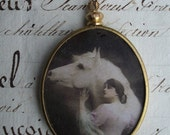 Wuthering Heights - Vintage Assemblage Pendant - Reserved Llisting