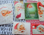 Santa Smiles and Brings Joy to You in Vintage Christmas Card Lot No 1016 All Face Shots and a Wink Too!  Lot of 10