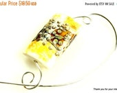 Closing shop Yellow Grace Bead Shawl Pin, Scarf Pin, Brooch - Safari Sunset Lampwork Kalera Bead
