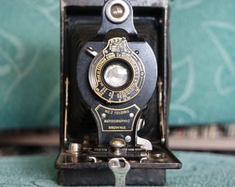 Early 1900's Kodak No.2 Folding Autographic Brownie Camera