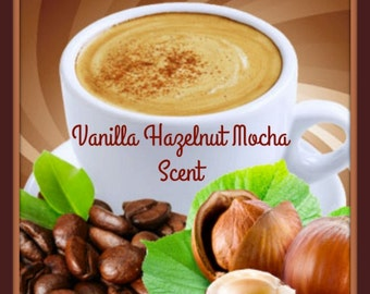 VANiLLA HAZELNUT MOCHA Scented Soy Wax Melts Tarts * Strong Coffee Lovers Scent * Nuts * Drink * Highly Scented * Handmade In USA