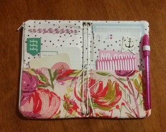 Personal size fabric traveler's notebook - ready to ship