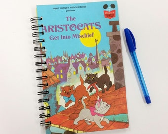 The Aristocats, Recycled Book Journal, Notebook