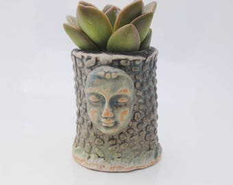 ceramic planter pot tiny garden buddha head planter