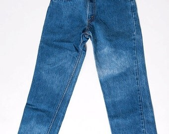 30% off SPRING SALE The Vintage Bleached Dark Wash Indigo Levis Jeans - WAIST 25
