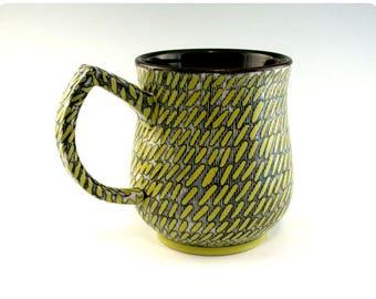 Etched Porcelain Mug