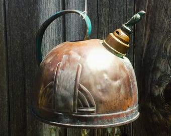 Whistling Blue Bird - Art Deco Tea Kettle Wind Chime