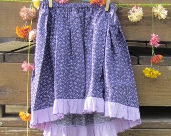 Tropical Blossom Skirt, Purple Skirt, High-low Skirt, Girls' Size 4 - 6*