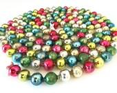Vintage CHRISTMAS Garland Mercury Glass Bead Strand Multi-Color