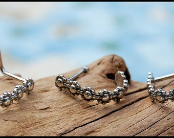 Sterling Silver Nose Ring / Nose Cuff / Patterned Nose Ring / Unique Nose Jewelry / Rock Your Nose - CUSTOMIZE