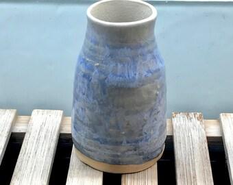 Tiny Blue Vase - small vase / sake carafe / blue ceramic / ceramic vase / blue cup