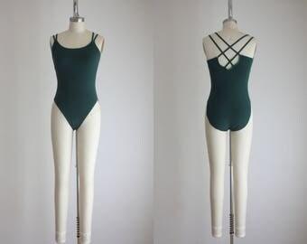 vintage forest green bodysuit