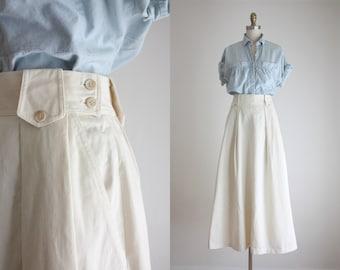 cotton twill maxi skirt