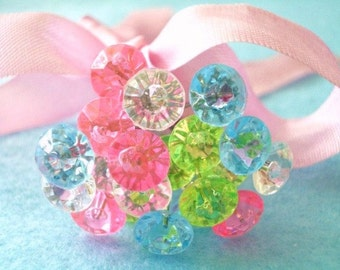 Corsage Crystal Pins - Candy Color - Set of 20