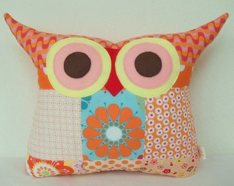 Christmas gift /patchwork/The sunrise owl pillow/home decor/living room/children gift/express shipping