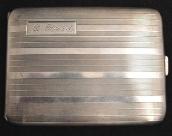 Antique Art Deco American Elgin Sterling Silver Cigarette Case