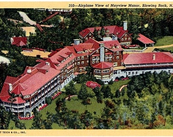 Vintage North Carolina Postcard - The Mayview Manor Hotel, Blowing Rock (Unused)