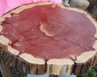 "LARGE, 18""-22"" Rustic Wedding Decorations, Tree Slice, Sanded + Finished, wedding cake base, cake stand, wood slice for centerpieces"