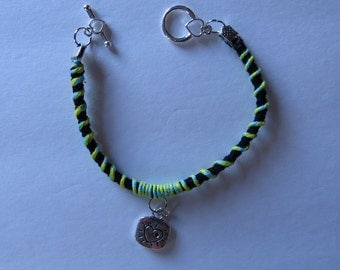 Friendship Bracelet with love/ heart charm