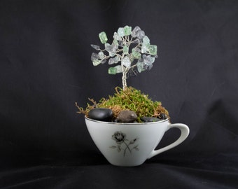 Teacup Tree in Glass