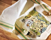 Napa Valley Map Kitchen/Tea Towel