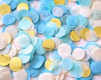 Blues & Gold Confetti Mix