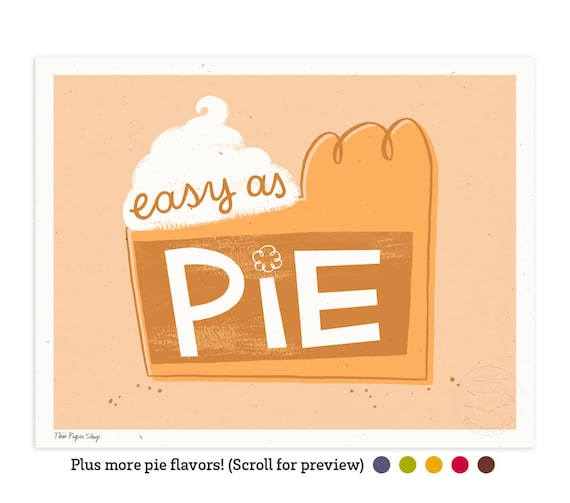 Easy as Pumpkin Pie Illustrated Art Print