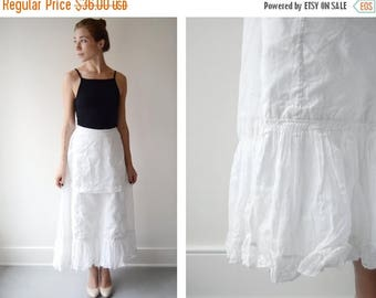 SPRING CLEANING SALE 1910 White Ruffle Petticoat - Xs