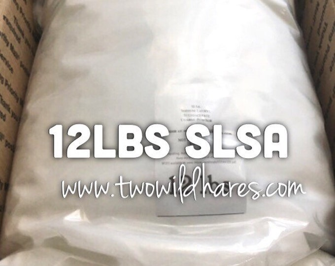 12 LBS SLSA, Eco Certified Surfactant, Lathanol, Sodium Lauryl Sulfoacetate, LAL Coarse Powder, Bubbles!