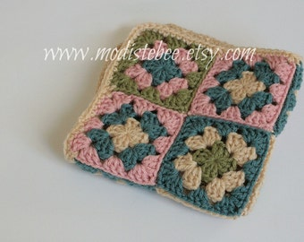 Granny Square Accent Blanket  (photo prop)