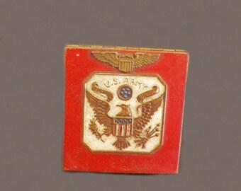 Rare Antique Army Compact Mirror, Purse Mirror, Purse Accessories, World War II Militaria, Ladies' Military Accessories,