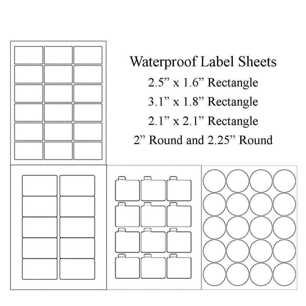 Blank Label Sheets Waterproof Labels Vinyl Labels Jar Labels - Custom vinyl stickers 1 x 2
