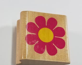 Solid Daisy Flower Rubber Stamp Bible Journaling
