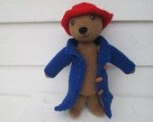 Crochet Teddy bear with hat Cute bear with red hat bear party bear birthday best friend gift Kids Toys crochet Teddy Bear childrens toys