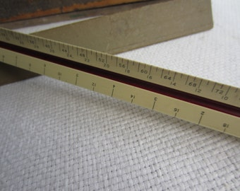 Vintage Architecture Ruler Eugene Dietzgen Co. 1658 B Triangular Ruler